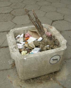 боклук в София - нормална гледка …