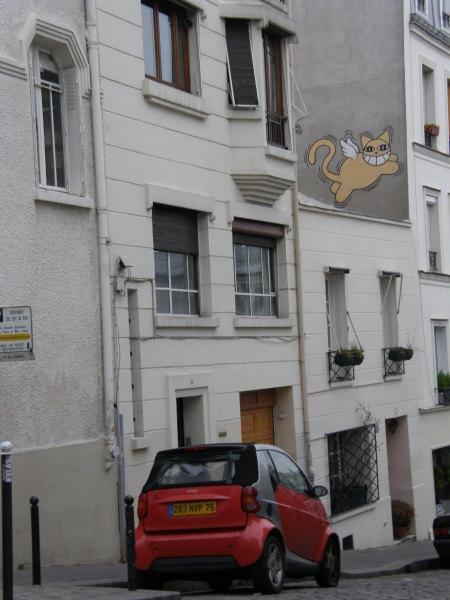 кола и котка - по уличките на Монмартър