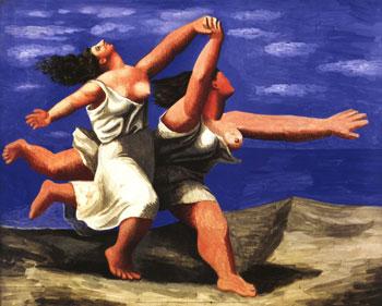 Две жени бяшащи на плажа - Пикасо