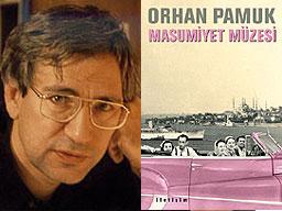 Орхан Памук и корицата на новата му книга Музей на невинността - турско издание